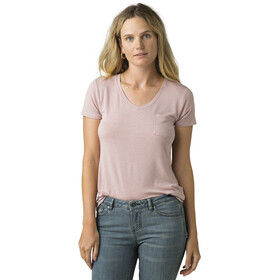 Prana Foundation T-shirt avec col en V Femme, rosette heather